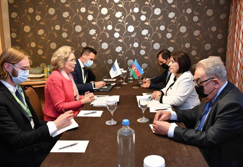 Сахиба Гафарова встретилась с председателем ПА ОБСЕ