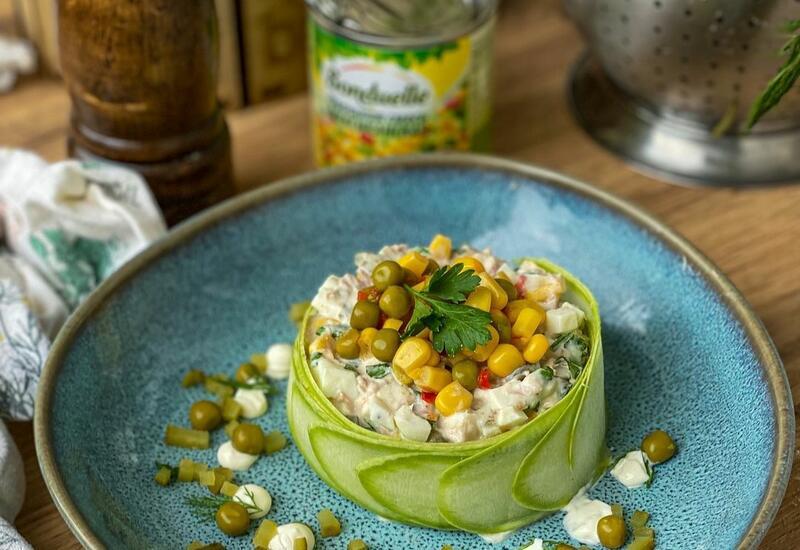 Рецепт и красивое оформление тунцового салата в блоге Или Мамедовой