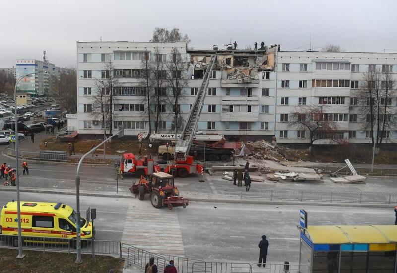 Взрыв газа в жилом доме в России