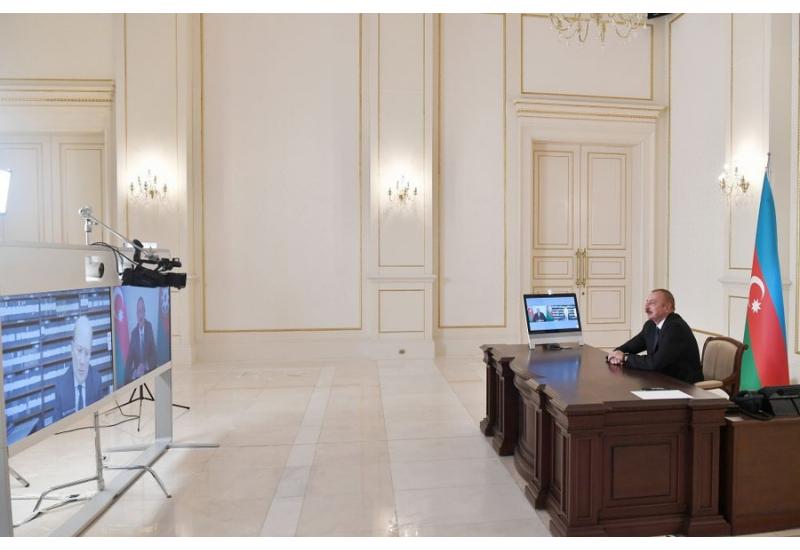 Zəfər xronikası 26 oktyabr 2020-ci il: Prezident İlham Əliyev İtaliyanın Rai-1 televiziya kanalına müsahibə verib
