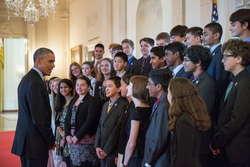 Азербайджанский вундеркинд встретился с Бараком Обамой - ФОТО