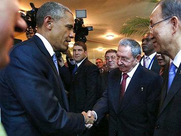 Главы США и Кубы встретились впервые за 50 лет
