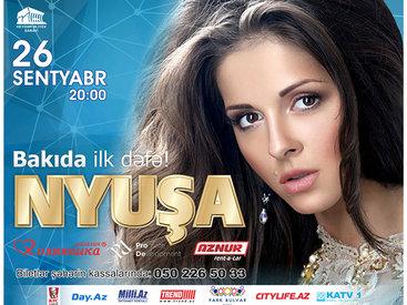 Нюша перед концертом в Баку собрала 30 тыс. зрителей