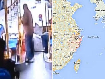 Китаец бросил в водителя гранату за то, что он не остановил на остановке - ВИДЕО