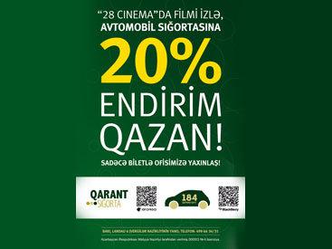 """""""Qarant Sığorta"""" предлагает 20% скидку на автострахование"""