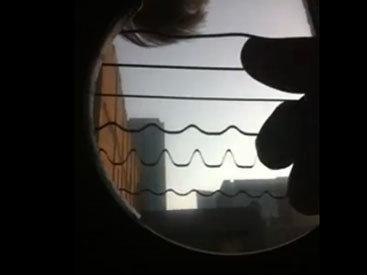 Колебания струн засняли на камеру - ВИДЕО