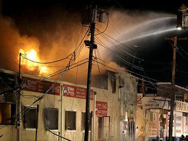 В Абшероне в хлебном цехе произошел пожар