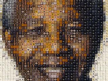 Удивительные портреты Нельсона Манделы из клавиш - ФОТО