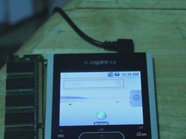 На калькуляторе запустили Android - ВИДЕО