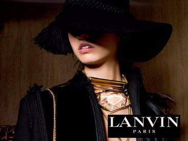 Бахрома и парча в осенне-зимней кампании Lanvin - ФОТО