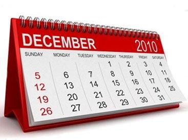 Определены нерабочие дни в связи с Новым годом и Днем солидарности азербайджанцев мира