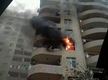Пожар в 17-этажном здании в Ясамале - ОБНОВЛЕНО - ФОТО