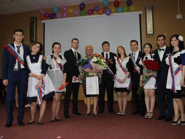 Последний звонок в азербайджанской школе Москвы - ФОТО
