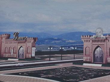 """На дороге Баку-Газах возводятся грандиозные """"Гянджинские ворота"""" - ФОТО"""
