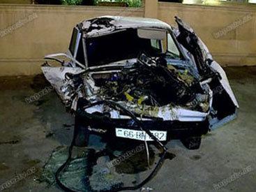 В Габале ВАЗ врезался в дерево: водитель погиб