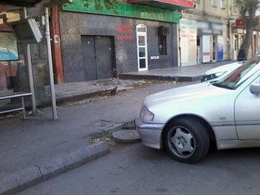 Bakıda avtobusu nəzərdə tutulan yerlərdə saxlamaq olmur – FOTO