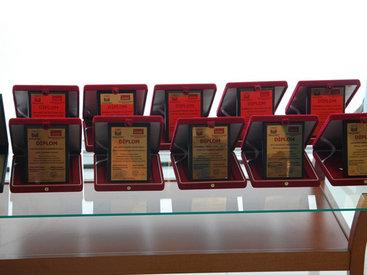 Награждены журналисты, победившие в конкурсе, посвященном Евроиграм - ФОТО
