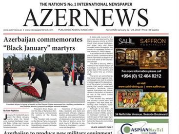 Вышел очередной печатный номер on-line газеты Azernews – ФОТО
