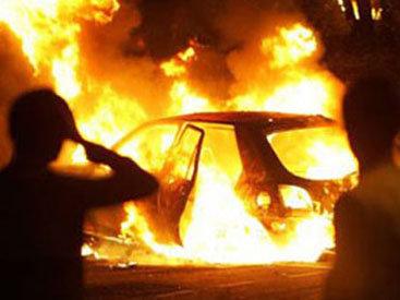 На трассе Баку-Шамахы загорелся ГАЗ-3110, ехавший на похороны