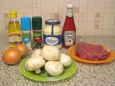 Мясные рулетики с грибной начинкой - Пошаговый рецепт - ФОТО