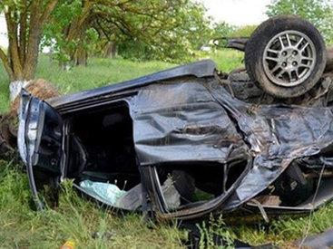 Автомобиль врезался в дерево, 25-летний водитель погиб