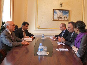 Мубариз Гурбанлы на встрече с новым послом Израиля