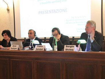 В Риме представлена азербайджанская модель общественного участия - ФОТО