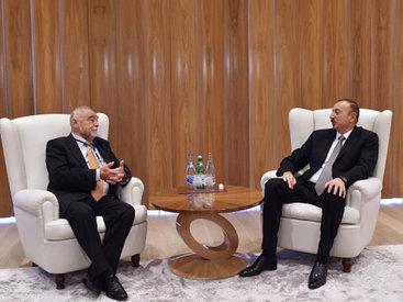 Президент Ильхам Алиев принял экс-президентов Латвии, Литвы и Хорватии - ФОТО