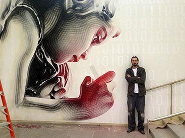 """""""Картинная галерея Day.Az"""": Потрясающее граффити в школьном кампусе - ФОТО"""