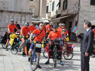 В Хорватии стартовал велопробег, посвященный Евроиграм в Баку - ФОТО
