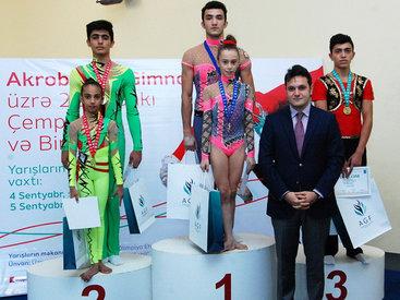 Завершился 22-й чемпионат Баку по акробатической гимнастике - ФОТО