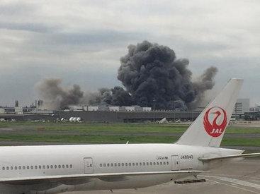 Крупный пожар рядом с аэропортом Токио - ФОТО - ВИДЕО