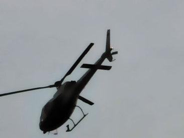 Падение вертолета в Киеве попало на камеры