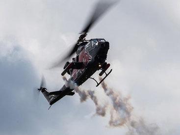 Вертолет упал на бок у больницы под Красноярском
