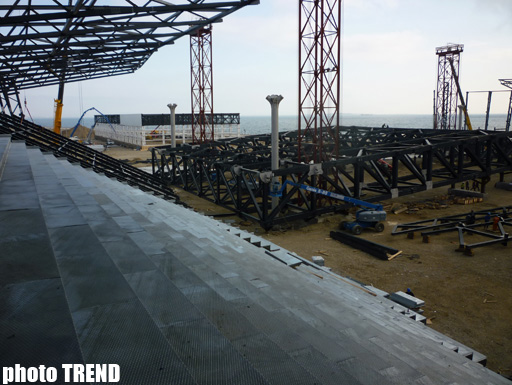 """В Баку завершилась установка крыши в комплексе, где может пройти """"Евровидение"""" - ФОТО"""