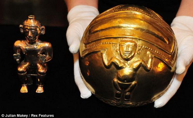 Выставка золотых артефактов из эльдорадо - smonitoril.ru.