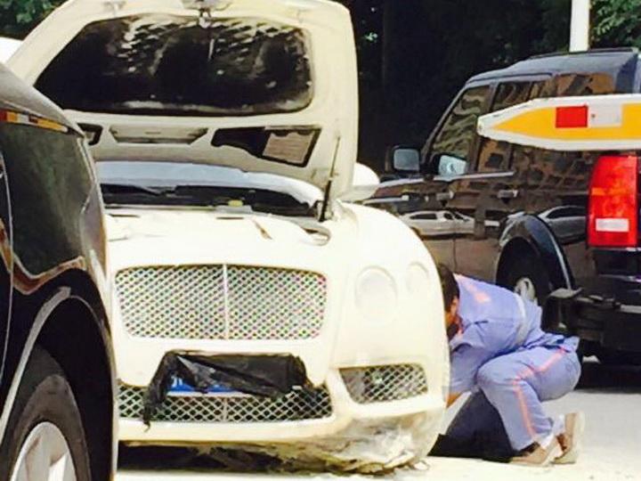 Вот, что стало с этим Bentley, когда жених пошел за невестой - ФОТО