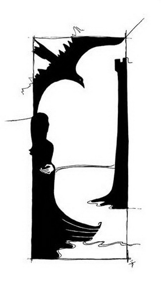 """""""Картинная галерея Day.Az"""": Черно-белые иллюстрации - ФОТО"""