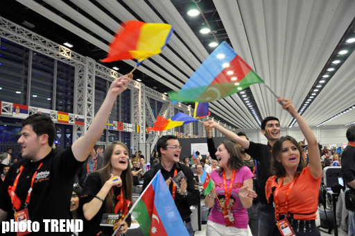 """Выступление Сабины Бабаевой было встречено овациями в пресс-центре """"Baku Crystal Hall"""" - ФОТОСЕССИЯ"""