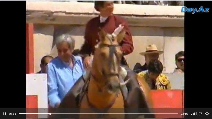 Невероятное выступление тореадора с конем - ВИДЕО