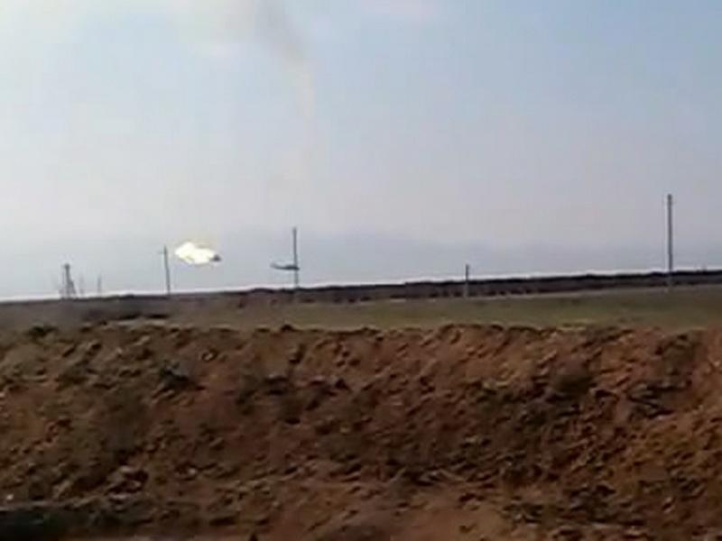 Обнародованы фотографии момента уничтожения армянского военного вертолета Ми-24 - ФОТО