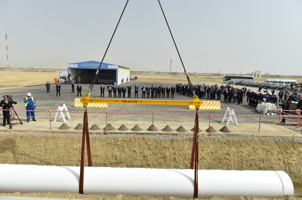 """Президент Ильхам Алиев: """"""""Южный газовый коридор"""" будет приносить всем пользу, как минимум, на протяжении 100 лет"""" - ОБНОВЛЕНО - ФОТО"""