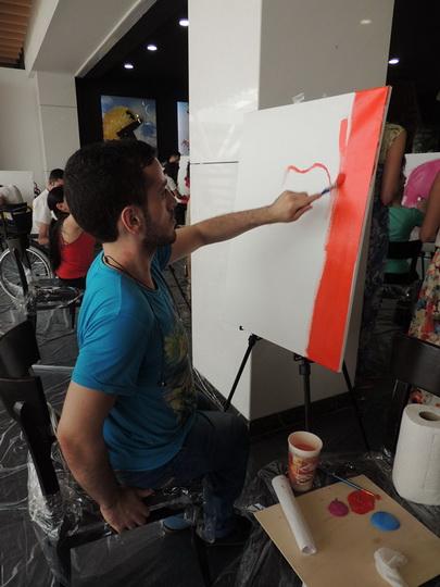 """""""Art Scarves by MenzerHajiyeva"""", художница Нармина Велиева, 28 Cinema и Day.Az устроили для подростков с ограниченными возможностями мастер-класс - ФОТО - ВИДЕО"""
