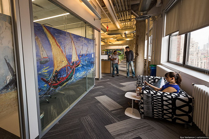 Офис Google в Нью-Йорке: работа мечты - ФОТОСЕССИЯ