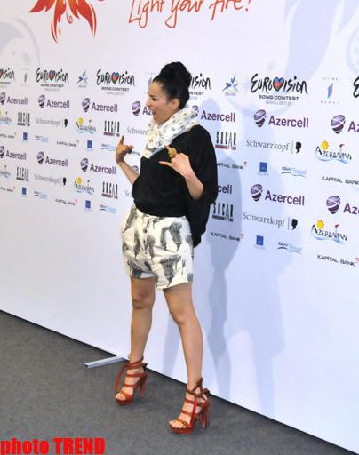 """Участница """"Евровидения"""" от Италии потеряла в Баку дар речи - ФОТО"""