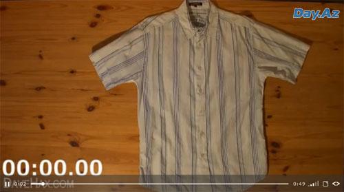 Как завернуть рубашку за 2 секунды - ВИДЕО
