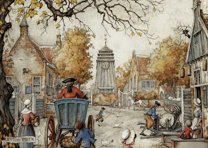 Праздникам нашем, винтажные картинки городов