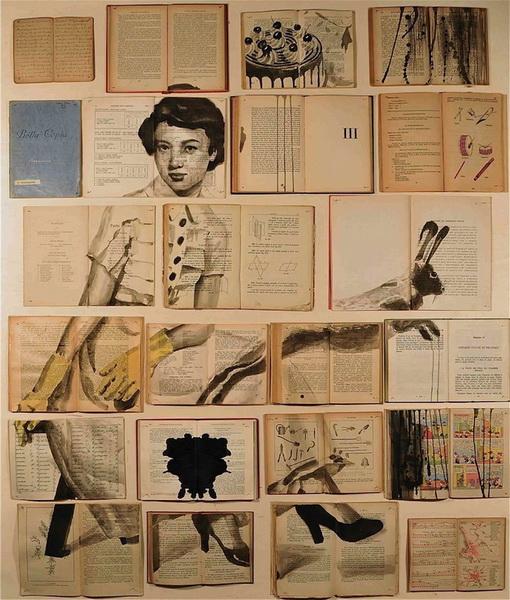 """""""Картинная галерея Day.Az"""": Чарующие картины, нарисованные на книгах - ФОТО"""