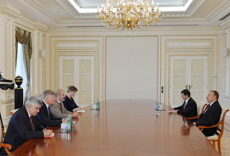 Президент Азербайджана принял делегацию во главе со спецпредставителем ЕС по Южному Кавказу - ОБНОВЛЕНО - ФОТО