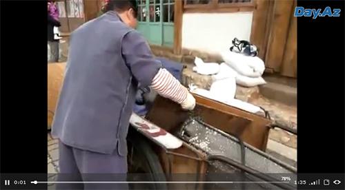 Старый китайский способ изготовления попкорна - ВИДЕО